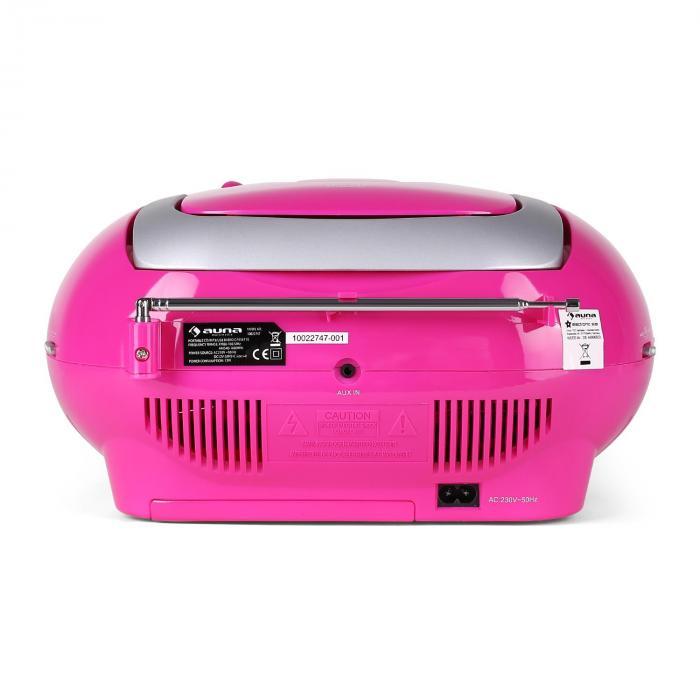KrissKross Ghettoblaster USB MP3 CD FM portabel pink