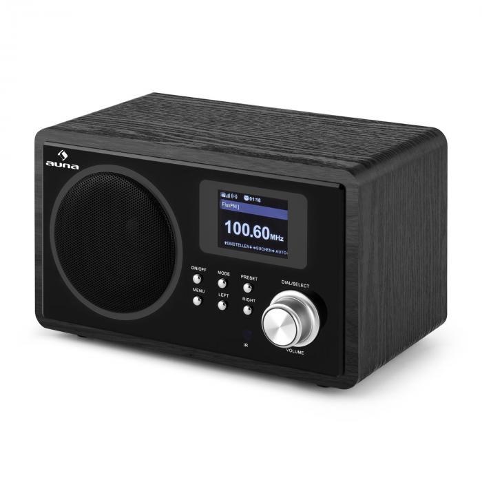 IR-150 Internet-Radio UKW DLNA WLAN Retro Fernbedienung Holzgehäuse